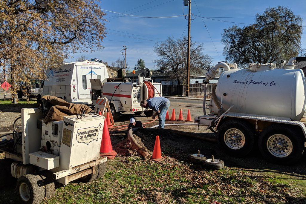 Summit plumbing redding job